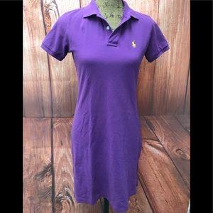 Ralph Lauren sport polo dress purple size small
